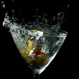 Drink Splash in a Martini Glass Stock Image