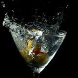 Drink Splash in a Martini Glass Stock Image