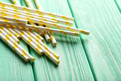 Drink straws Stock Image