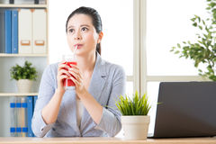 Drink sweet watermelon juice in summer it`s kind of enjoyment Royalty Free Stock Photography