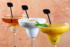 Drink in a tall glass Royalty Free Stock Images