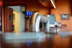 Drink taps in modern restaurant Royalty Free Stock Photography