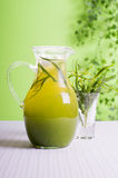 Drink tarragon in a jar Stock Photos