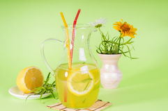 Drink tarragon in a jar Royalty Free Stock Images