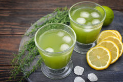 Drink with tarragon Royalty Free Stock Photo