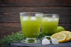 Drink with tarragon Royalty Free Stock Photography