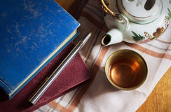 Drink tea with study. Stock Photography