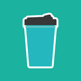 Drink thermo cup Royalty Free Stock Photos