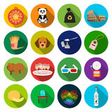 Drink, tourism, business and other web icon in flat style.furniture, prints, heart icons in set collection. Royalty Free Stock Image