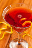 Drink in a triangle glass Royalty Free Stock Photo