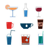 Drink vector icons Stock Photo