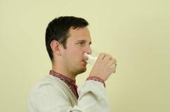 Drink water Royalty-vrije Stock Afbeeldingen