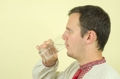 Drink water Stock Afbeelding