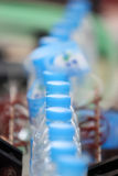 Drink water bottle production line Royalty Free Stock Photo
