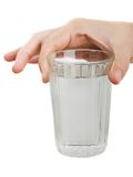 Drink water glass Stock Image