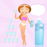 Drink water Stock Images