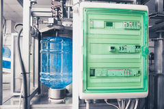 Drink water production line Stock Photos