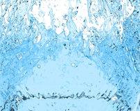 Drink water splash 3D illustration liquid on white background Stock Image