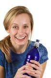 Drink water voor goede gezondheid Royalty-vrije Stock Afbeeldingen