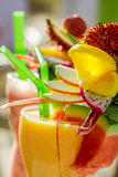 Drink with watermelon and fresh fruits Stock Image