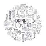 Drink what you love Stock Photo