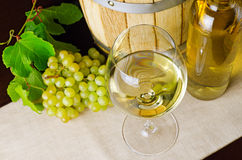 White wine on the table Royalty Free Stock Photo