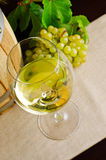 White wine on the table Stock Photo