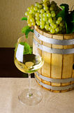 White wine on the table Royalty Free Stock Photos