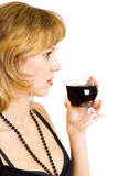 The drink of wine kindles your desire Royalty Free Stock Photography