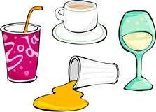 drinkar royaltyfri illustrationer