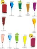 drinkar vektor illustrationer