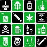 Drinkar och drogsymboler Royaltyfria Foton