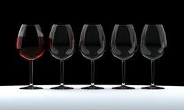 Drinkbeker wijn Royalty-vrije Stock Afbeelding