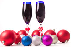Drinkbeker, wijn, geesten voor Kerstmis Royalty-vrije Stock Afbeeldingen