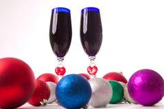 Drinkbeker, wijn, geesten voor Kerstmis Stock Foto