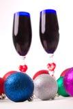Drinkbeker, wijn, geesten voor Kerstmis Stock Afbeelding