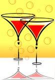 drinkbekers van dranken Royalty-vrije Stock Afbeeldingen