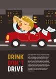 Drinken kör inte Vektor Illustrationer