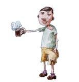 Drinkend Bier royalty-vrije illustratie