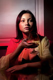 Drinkende brandewijn Royalty-vrije Stock Foto