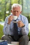 Drinkende koffie Stock Foto's