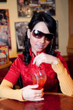 Drinkende Margarita stock fotografie