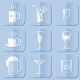 Drinkende Pictogrammen vector illustratie
