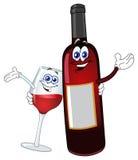 Drinkende vrienden Royalty-vrije Stock Afbeeldingen