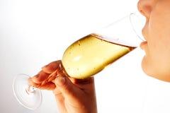 Drinkende vrouw 9 Royalty-vrije Stock Fotografie
