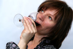 Drinkende wijn stock foto's