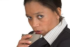 Drinker. Woman drinking Royalty Free Stock Photography