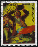 Drinker by Francisko de Goya. RUSSIA KALININGRAD, 19 APRIL 2017: stamp printed by Paraguay, shows Painting the Drinker by Francisko de Goya, circa 1978 Royalty Free Stock Photography