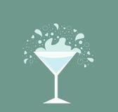 drinkexponeringsglas martini stock illustrationer