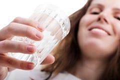 drinkexponeringsglasvatten Arkivbilder